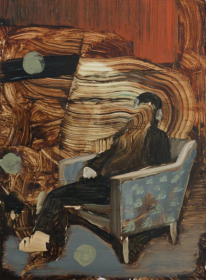 8. Silent Interior II, oil on panel, 38x28cm, 2015, Bartosz Beda